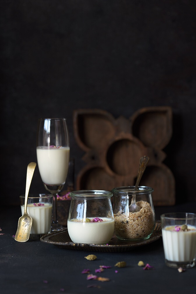 Thandai Panacotta is perfect marriage of Indian and Italian flavours. Thandai is a quintessential drink during holi using Thandai Masala.